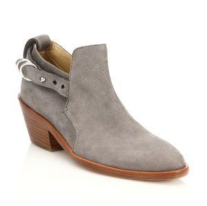 Rag & Bone Gray Sullivan Nubuck Leather Ankle Boot